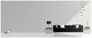Современный дизайн живущей комнаты, внутренняя предпосылка Стоковые Фото