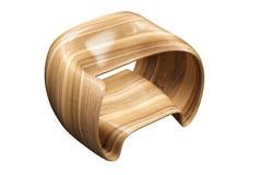 Современный деревянный стул стоковая фотография rf