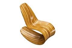 Современный деревянный стул стоковые изображения rf