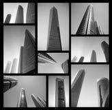 Современный деловый центр в черно-белом абстрактная принципиальная схема дела Высокий архив разрешения Стоковые Фото