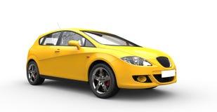 Современный желтый семейный автомобиль Стоковая Фотография RF