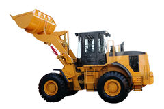 Современный желтый трактор Стоковая Фотография