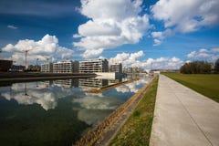 Современный жилой проект жилищного строительства Стоковая Фотография RF