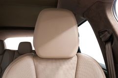 Современный заголовник кожи автомобиля Стоковые Фото