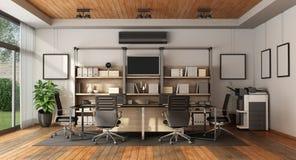 Современный зал заседаний правления с таблицей встречи бесплатная иллюстрация