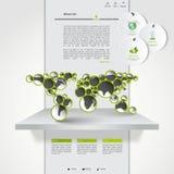 Современный зеленый вебсайт eco Стоковые Фотографии RF
