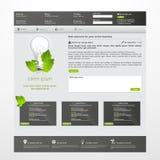 Современный зеленый вебсайт eco Стоковые Изображения RF