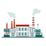 Современный значок здания фабрики иллюстрация штока