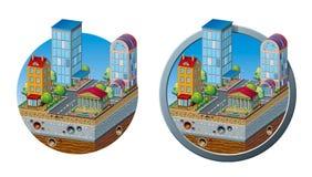 Современный значок концепции города Стоковые Изображения RF