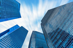 Современный здания небоскреба и центра дела финансового Стоковые Фото