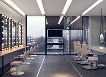 Современный дизайн интерьера салона стоковые изображения