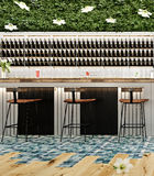 Современный дизайн концепции бара коктейль-бара пляжа Стоковая Фотография