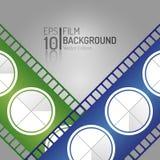 Современный дизайн предпосылки кино Элементы вектора Минимальная иллюстрация фильма EPS10 Стоковые Изображения