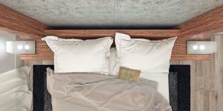 Современный дизайн спальни Стоковые Изображения