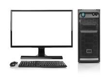 Современный изолированный компьютер настольный ПК Стоковая Фотография RF