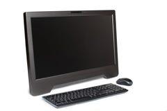 Современный изолированный настольный компьютер сенсорного экрана стоковые фото