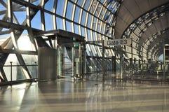 Современный интерьер авиапорта, международный аэропорт Suvarnabhumi, запрет Стоковые Фото