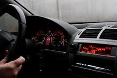 Современный интерьер автомобиля Стоковые Изображения RF