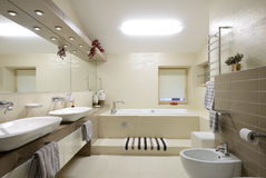 Современный интерьер. Ванная комната Стоковое Изображение
