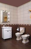 Современный интерьер ванной комнаты Стоковые Изображения RF