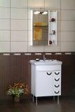 Современный интерьер ванной комнаты Стоковое Изображение