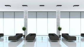 Современный интерьер живущей комнаты с софами Стоковая Фотография