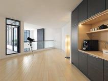 Современный интерьер залы дома стоковые фотографии rf