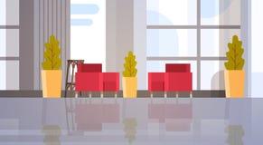 Современный интерьер зала ожидания здания Hall офиса Стоковое Изображение RF