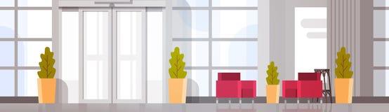 Современный интерьер зала ожидания здания Hall офиса Стоковые Фото