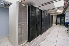 Современный интерьер комнаты сервера Стоковое Изображение RF