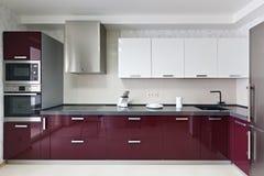 Современный интерьер кухни Стоковые Фотографии RF