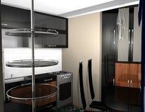 Современный интерьер кухни стоковые фото