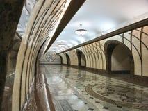 Современный интерьер метро дорожки подземный стоковые изображения