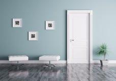 Современный интерьер с дверью и местами Стоковая Фотография