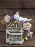 Современный и стильный флористический венок Стоковая Фотография