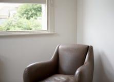 Современный кожаный комплект софы Стоковые Фотографии RF