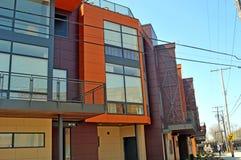 Современный комплекс апартаментов Стоковая Фотография RF