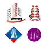 Современный комплект логотипа здания Стоковое Изображение