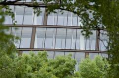 Современный конец-вверх офисного здания, Лондон, Европа Стоковая Фотография RF