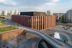 Современный концертный зал в Катовице, Польша Стоковое фото RF