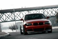 Современный красный автомобиль спорт стоковая фотография