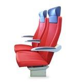 Современный красный изолированный стул пассажира стоковое фото rf