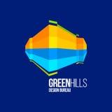Современный красочный абстрактный дизайн логотипа или элемента Самое лучшее для идентичности и логотипов Стоковые Фото
