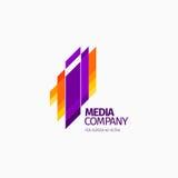 Современный красочный абстрактный дизайн логотипа или элемента Самое лучшее для идентичности и логотипов Стоковая Фотография