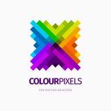 Современный красочный абстрактный дизайн логотипа или элемента Самое лучшее для идентичности и логотипов Стоковая Фотография RF