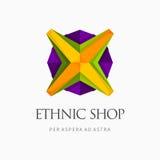 Современный красочный абстрактный дизайн логотипа или элемента Самое лучшее для идентичности и логотипов Стоковое Изображение RF