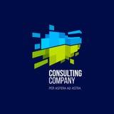 Современный красочный абстрактный элемент логотипа дизайна значка Стоковое Фото