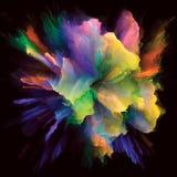 Современный красочный взрыв выплеска краски стоковая фотография