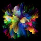 Современный красочный взрыв выплеска краски стоковое фото rf