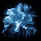 Современный красочный взрыв выплеска краски стоковые фотографии rf